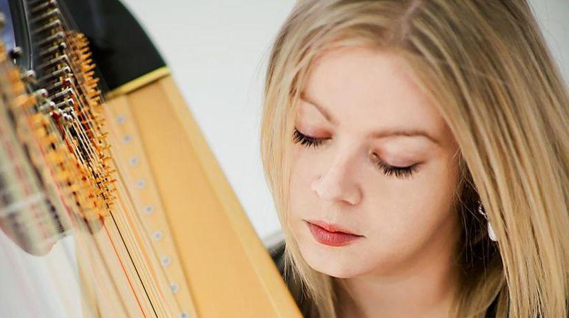 Mária Kmeťková, harfistka