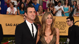 Herecký pár Justin Theroux a Jennifer Aniston.