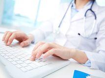 klávesnica, počítač, lekár, lekárska správa, recept