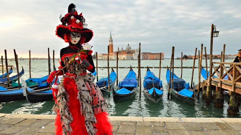 Benátky, karneval, maska,