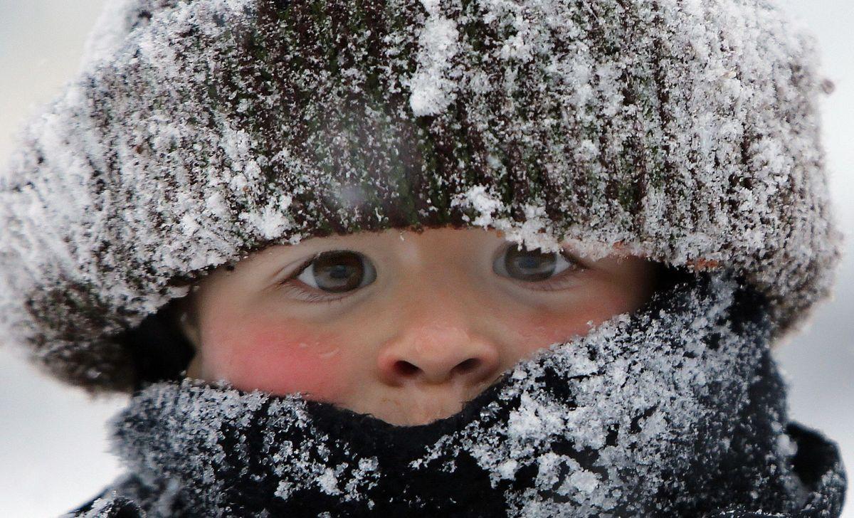 dieťa, mráz, zima