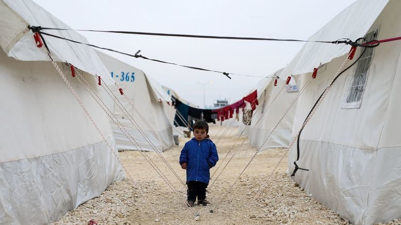 Utečenci, stany, Sýria, Kobani, Turecko,...