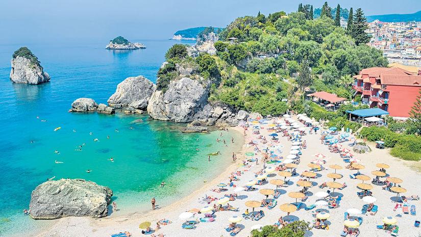 Grécko, turistika, pláž