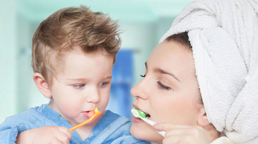 mliečny chrup, dentálna hygiena