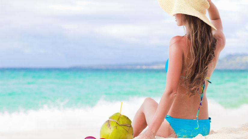 žena, leto, pláž, piesok, more, dovolenka,...