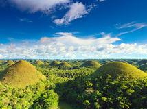 Filipíny, chocolate hills, čokoládové kopce,