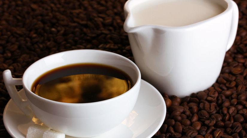 káva, mlieko, cukor