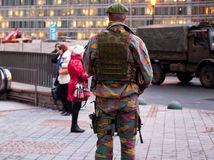 vojak, vojskom amráda, Brusel,