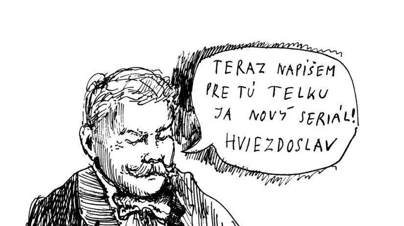 Hviezdoslav, kresba, Martin Kellenberger