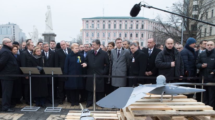 Kyjev, Ukrajina, Majdan, spomienka, Pochod...