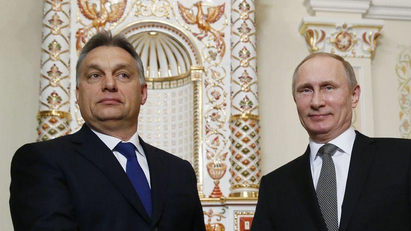 Putin, Orbán, Maďarsko, Rusko