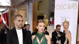 Herečka Scarlett Johansson a jej manžel Romain Dauriac.