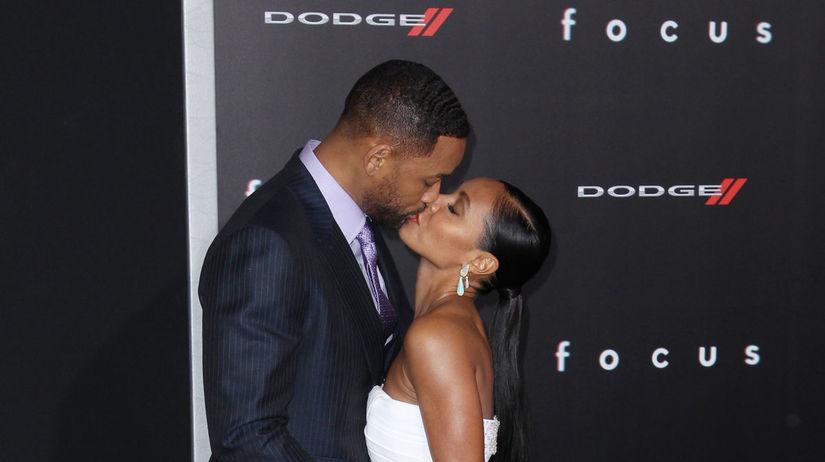 Herec Will Smith s manželkou Jadou Pinkett Smith.