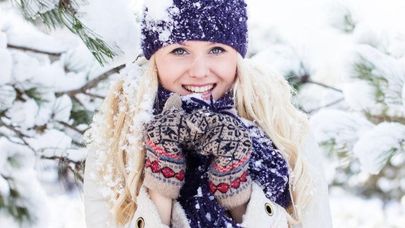 vlasy, zima, žena