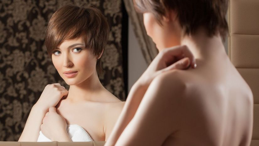 nahota, zrkadlo, intimity