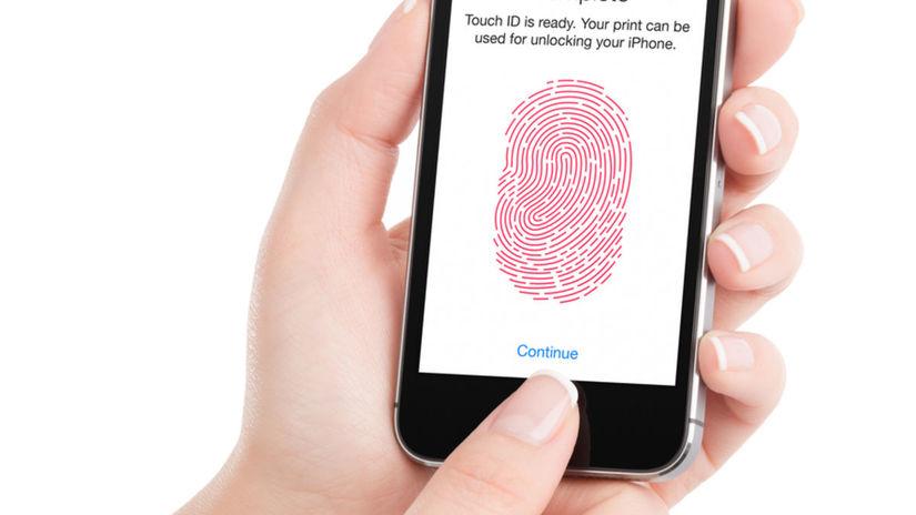 snímač, odtlačky prstov, biometria, Apple,...
