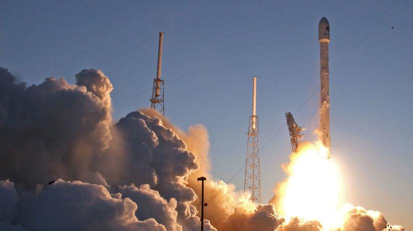 vesmírna raketa, SpaceX, kozmos, vesmírna loď,
