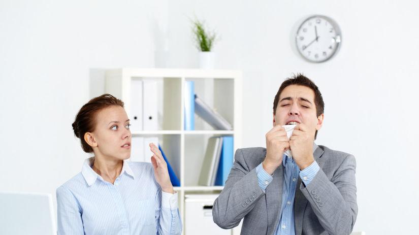 choroba, chrípka, kancelária