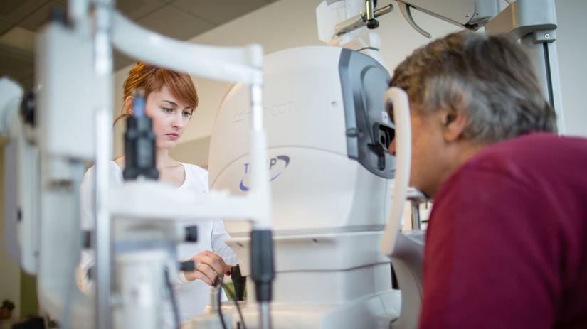 vyšetrenie, oko, očný lekár, glaukóm, očný tlak