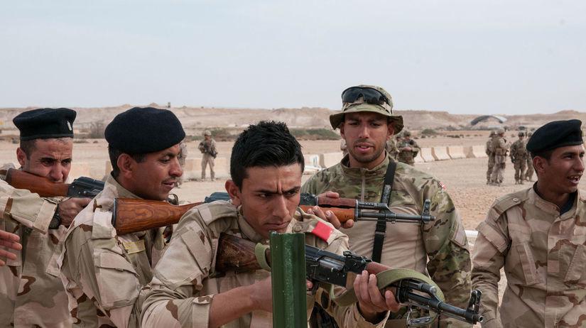 Irak, Mosul Islamský štát, zbrane, vojaci, armáda,