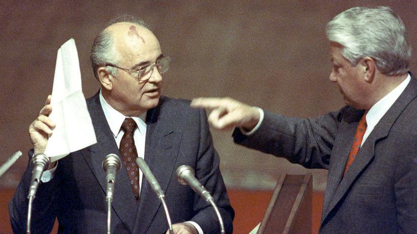 Michail Gorbačov, Boris Jeľcin, Rusko,...