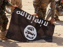 Islamská štát, islamisti, vlajka, zástava, Irak,