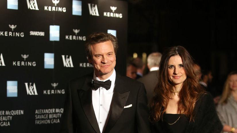 Herec Colin Firth prišiel aj so svojou...