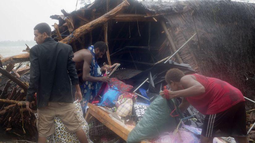Vanuatu, tropická búrka Pam, cyklón, víchor,...