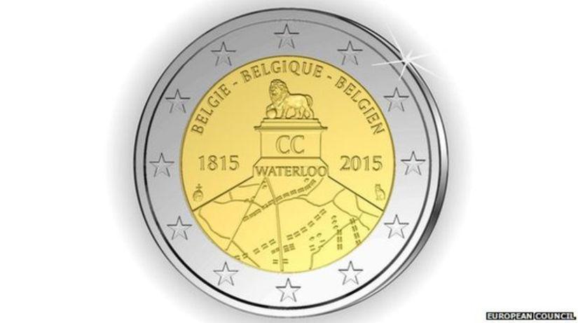 Waterloo, dvojeurovka, minca,