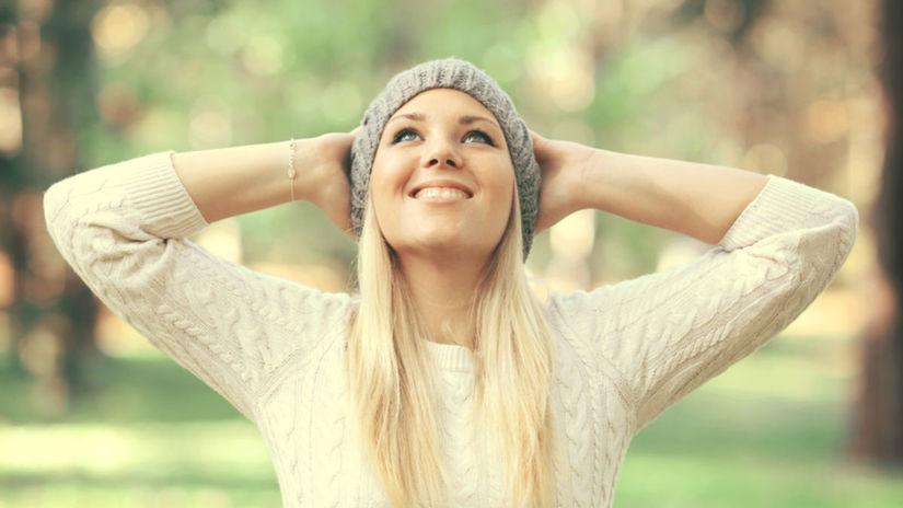 šťastná žena, šťastie,