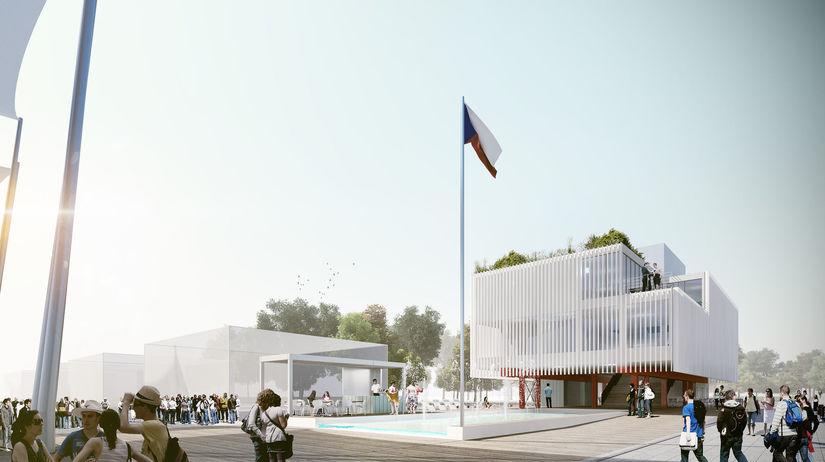 pavilón ČR, vizualizácia, projekt, Michal Krištof