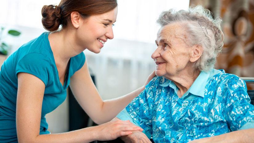 opatera - starostlivosť - starší človek - senior