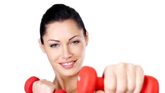 fitnescentrum, činky, cvičiť, tréning