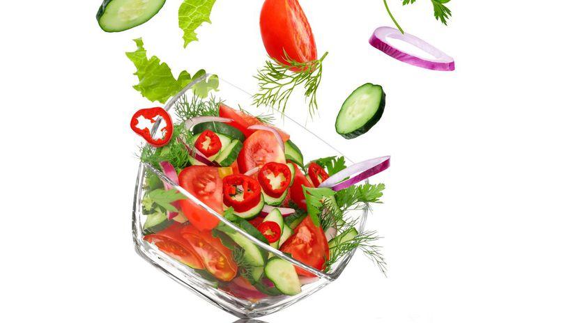 zdravá strava, zelenina, šalát