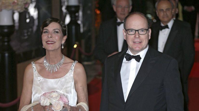 knieža Albert a jeho sestra - princezná Caroline