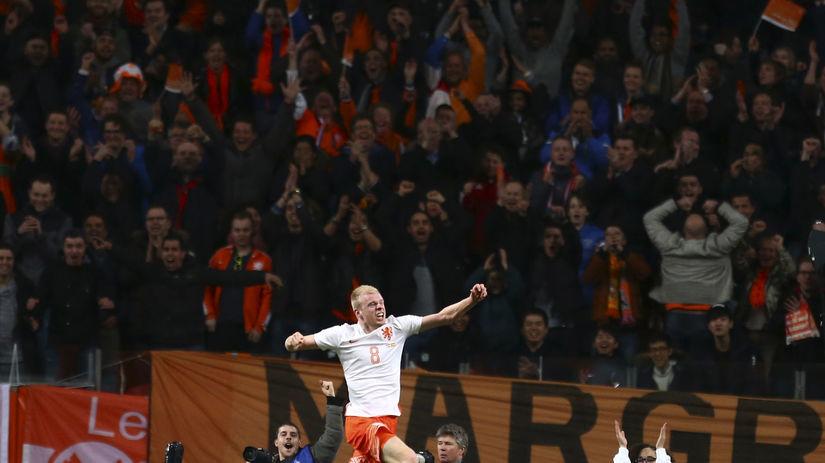Davy Klaassen, Holandsko, radosť, futbal