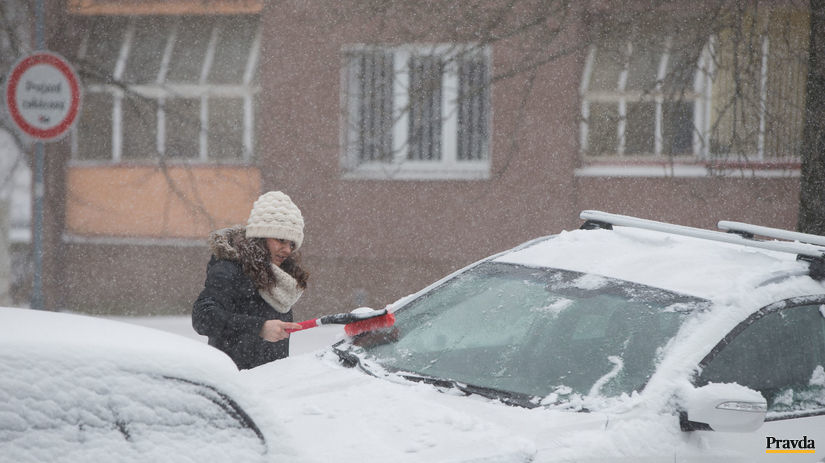 počasie, sneženie, kalamita