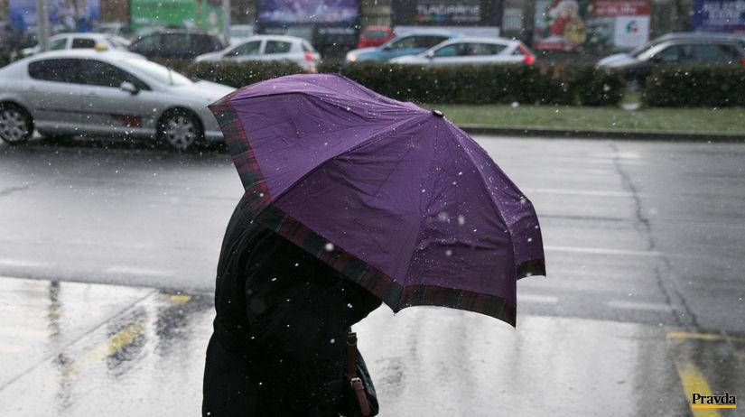 počasie, vietor, dážď, sneženie, prehánky