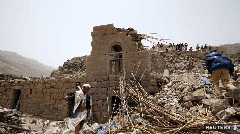 Jemen, Saná, výbuch, letecký náletm, letecký útok