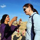 Beduíni, Negevská púšť, Izrael, ťavy, stany,