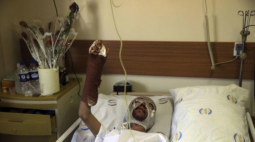 Jemen, zranený, nemocnica, Saná,