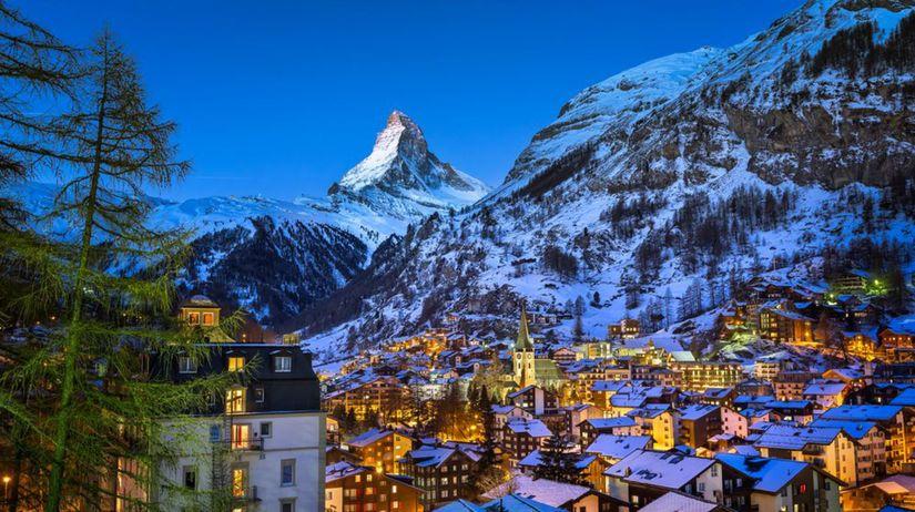 Zermatt, Švajčiarsko, Alpy, lyžovanie, hory,