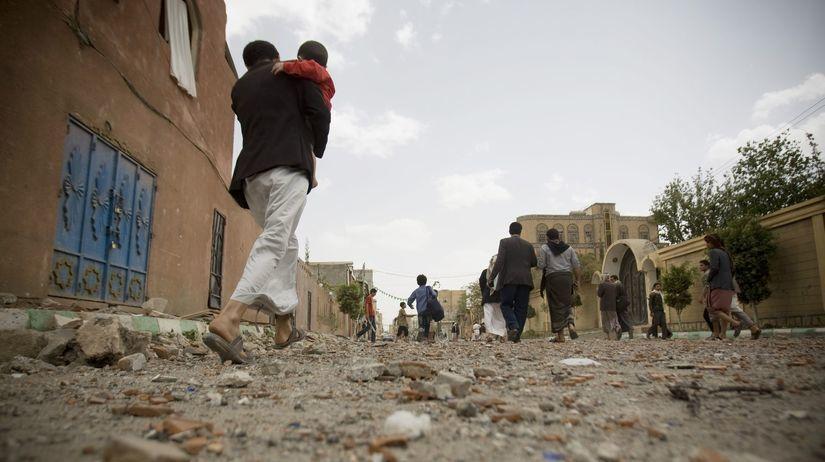 Jemen, Saná, boj, utečenci, trosky mesta,