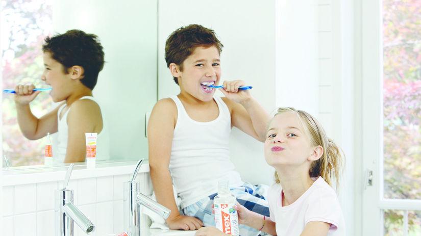 zuby, kefka, kúpeľňa, deti, umývanie zubov,...