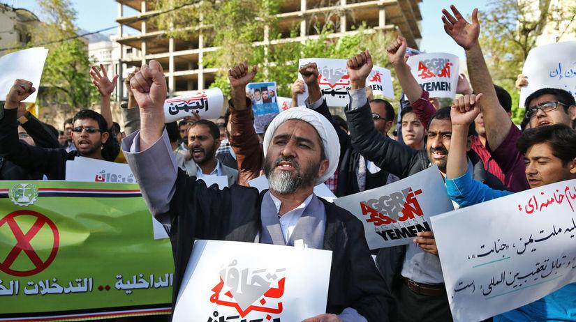 Jemen, prisťahovalci, demonštrácia