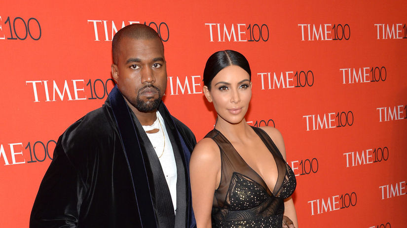 Kanye West a jeho manželka Kim Kardashian