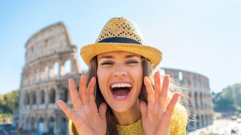 Taliansko, Rím, Koloseum, dievča, Talianka,...