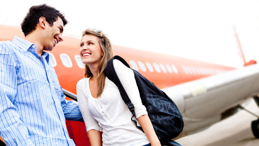cestovanie, partneri, láska, cestovať, lietadlo,