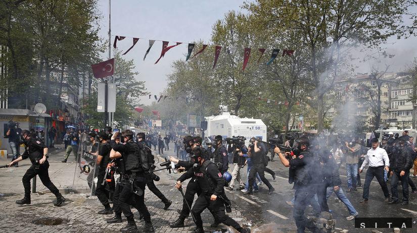 turecko, prvý máj, protesty
