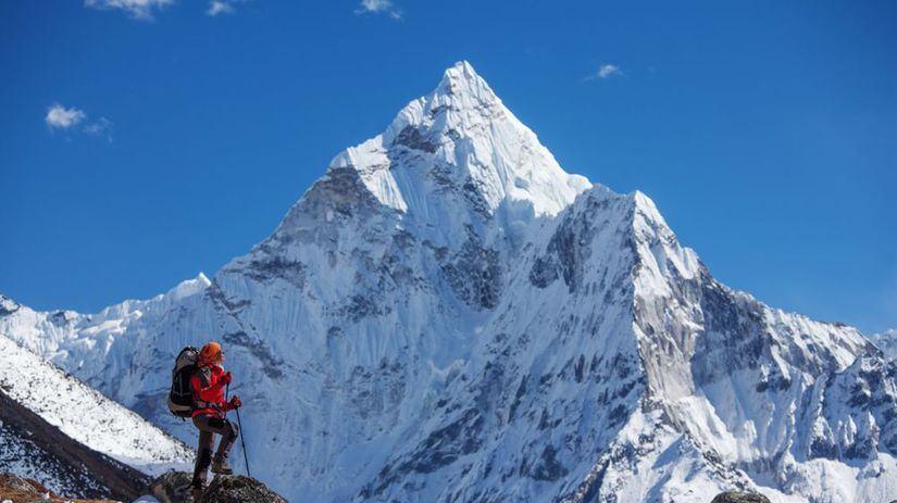 Mount Everest, Himaláje, turista, Nepál,...